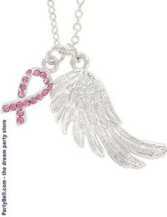 Cancer Awareness Angel Wish Necklace  $6.37