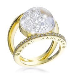 Royal Asscher - floating diamonds ring
