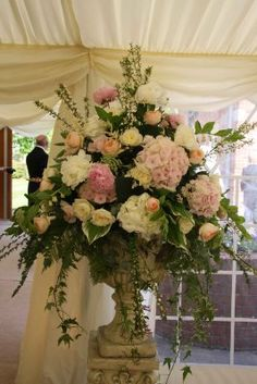 Large Floral Arrangement On A Pedestal Flowers Bouquets Flowers