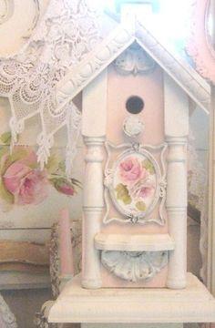 shabby birdhouse