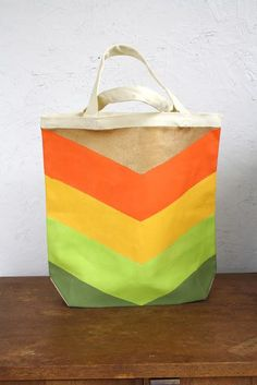 DIY Chevron Tote Bag DIY Bag DIY Handbag