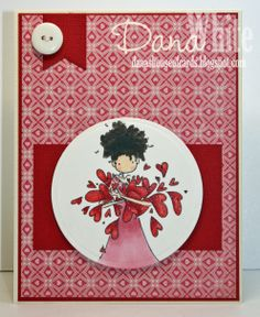 Uptown Girl Lucille sends her Love card - Image from Stamping Bella