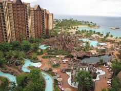 Aulani - the new Disney resort on Oahu.  Beautiful setting with lovely rooms, pool, lazy river, waterslides, snorkeling tank, spa, gift shops, bars and restaurants. Enjoyed the various entertainers who were at various places at the resort in the early evening.