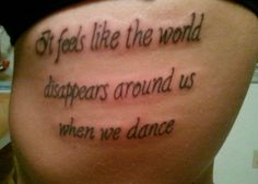 one of my many tattoos for dance