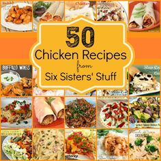 50 Chicken Breast Recipes from sixsistersstuff.com.  50 of the BEST chicken recipes! #chicken #recipes #dinner