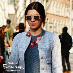 Loving the pastel frames with mirrored lenses. At the Milan Fashion Week. #ShadesOfFashionWeek #MFW #sunglasses