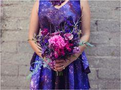 Harmony Creative Studio - Modern Galaxy Wedding Shoot - Galaxy Dress Giveaway #galaxydressgiveaway