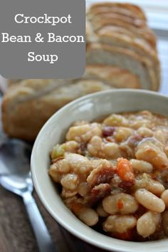 Crockpot Bean and Bacon Soup Recipe--Good recipe,but too many beans and not enough liquid! Cut bean amount by 1/2 and it would be just right