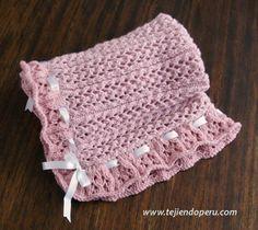 Paso a paso: cómo tejer una manta con tablillas caladas en dos agujas o palitos!