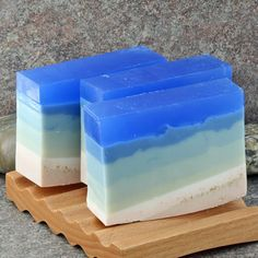 A Day At the Beach  Cocoa Butter Glycerin Soap by AlaiynaBSoaps