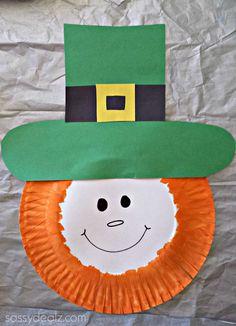 Leprechaun paper plate craft for st patricks day! #Kids art project #DIY   http://www.sassydealz.com/2014/01/paper-plate-leprechaun-craft-kids.html