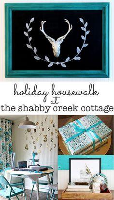 Christmas Tour of Homes / Holiday Housewalk @Gina Gab Solórzano @ Shabby Creek Cottage