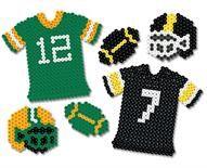 Game On! Perler Bead Football, Jersey and Helmet
