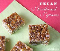 shortbread squar, squares, new recipes, food, cooki, pecan pies, pecans, shortbread bar, pecan shortbread
