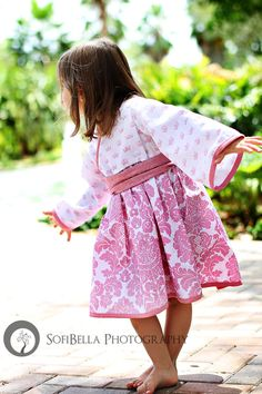 Girls Kimono Dress - Sparkle Princess