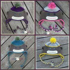 love the sock monkey crochet hats from crazysocks crochet!
