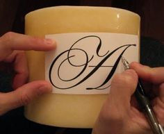 12 Days of Handmade Christmas Tutorials Day 8 {Monogrammed Candles}