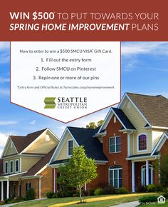 Get your spring home improvement started on us! Entry form at http://www.7principles.coop/homeimprovement/. #sweepstakes #giveaway #spring #homeimprovement #homeowner