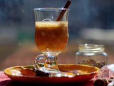 Ponche de calabaza. Hot pumpkin cider