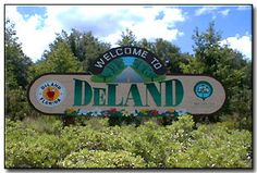 Deland FL--I was here for 9 months--I worked 10 miles away in Orange City.  Deland is a small laid back town with   lovely weather and located only 25 miles from Daytona Beach.  Not as pretty as   NC beaches, but I loved going there.  Every Saturday we went to this huge  indoor flea market and bought fresh   veggies and fruit.