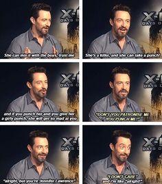 Hugh Jackman on Jennifer Lawrence