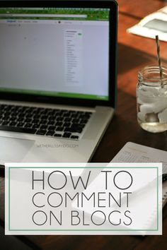 How to Comment on Blogs