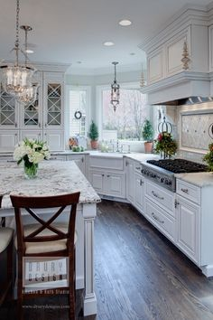 Kitchen Ideas....love the corner sink with the windows.... Would love if cabinets weren't white!