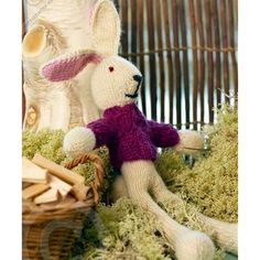 This knit bunny doll makes the perfect Easter decoration.  Pair him with some chocolate and jelly beans and you have an ideal Easter gift.