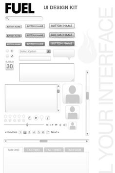 Web UI Wireframe Kit (.psd)