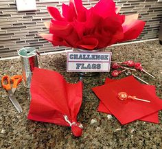 DIY Challenge Flags For Football Party