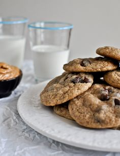 Peanut Butter Banana Chocolate Chip Cookies - how sweet it is