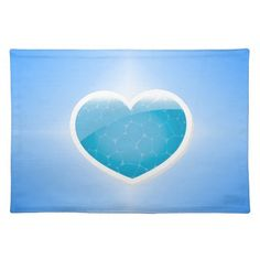 Blue Heart - Happy Birthday Sister Placemat