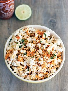 Sriracha Basil Popcorn @Andy Yang Martinec two loves in one!