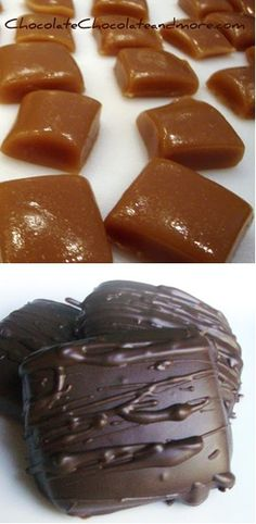 "Homemade caramels. ""The best caramels i have ever eaten! And they are so easy to make!"" Must try: they sound amazing."