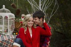 Christmas couple photography