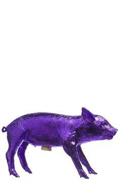 Beautiful purple piggy bank