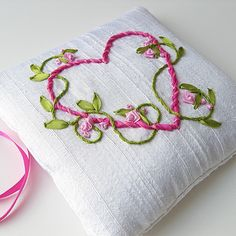 Ribbon Embroidery-so sweet and delicate!