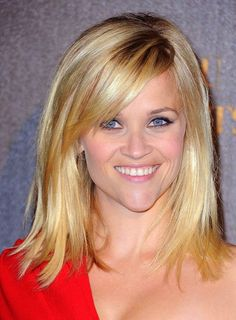 reese witherspoon, mid length, medium length hairstyles, new haircuts, medium length cuts, side bangs, medium length haircuts, hair bangs, bridesmaid hairstyles