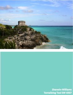 Sherwin-Williams Tantalizing Teal SW 6937 #globalcolor