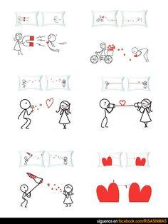 Regalos de San Valentín: Almohadas.