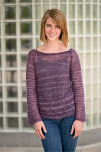 Blackberry Boatneck - women's sweater knitting pattern, women's top knitting pattern
