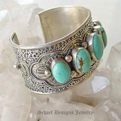 Turquoise cuff bracelet ~ Schaef Designs New Mexico