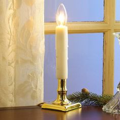 Best Brass Holiday Window Candle Light