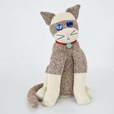 Why make a sock monkey, when you can make an adorable sock cat. Pick a fun pair of socks and then follow along with our video tutorial.