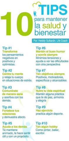 10 tips para mantener la #salud y #bienestar.