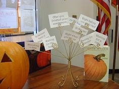 """Carve Out Time to Read"" Halloween library book display"