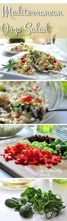 Filled with bright summertime flavors, and the perfect salad for a summer day - Mediterranean Orzo Salad | The Creekside Cook