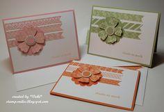 card idea, craft, card continu, stamp smile, stampin, basement stamper, simpl card, commiss card