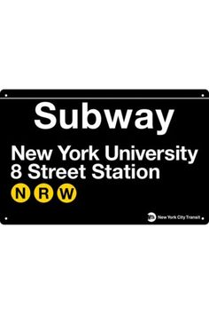 Popcorn New York University Subway Sign