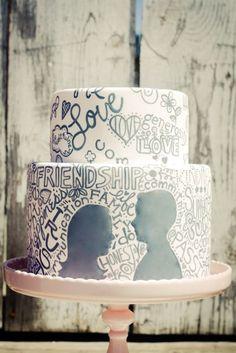 awesome cake. #wedding #cake